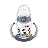 Nuk - Biberón de Silicona con Diseño de Mickey Mouse